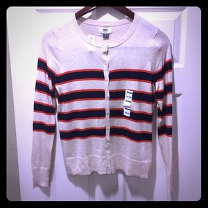 NWT Women's striped cardigan